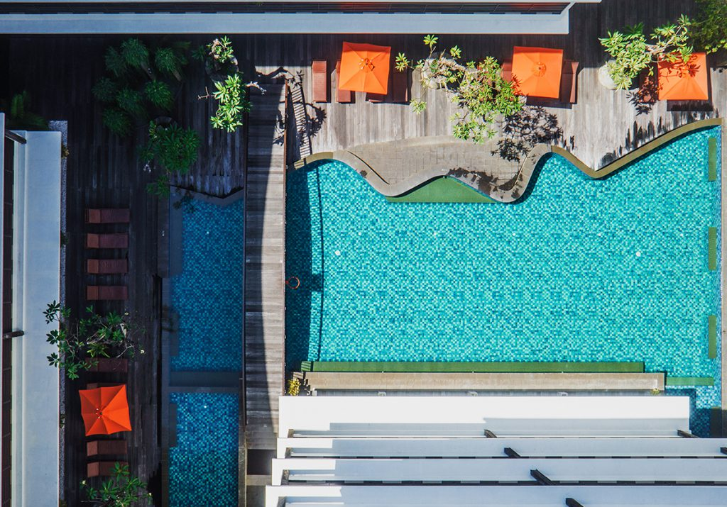 Sun Island Hotel and Spa Kuta - Aerial Pool Photo
